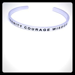 Serenity Courage Wisdom Affirmation Spiritual Cuff